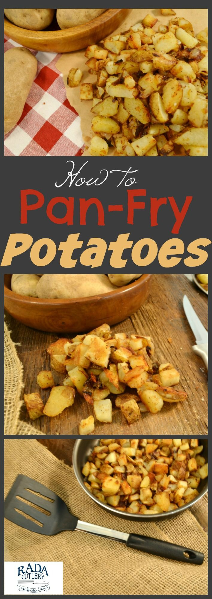 Whether you're having breakfast, lunch, or dinner, this pan-fried potatoes recipe is your ticket to a fabulous meal! With these potatoes, you have a quick and easy dish that goes great as a side or even a main course. These crispy, salty potatoes will be loved by all and only take mere moments to make! #potatoes #recipe