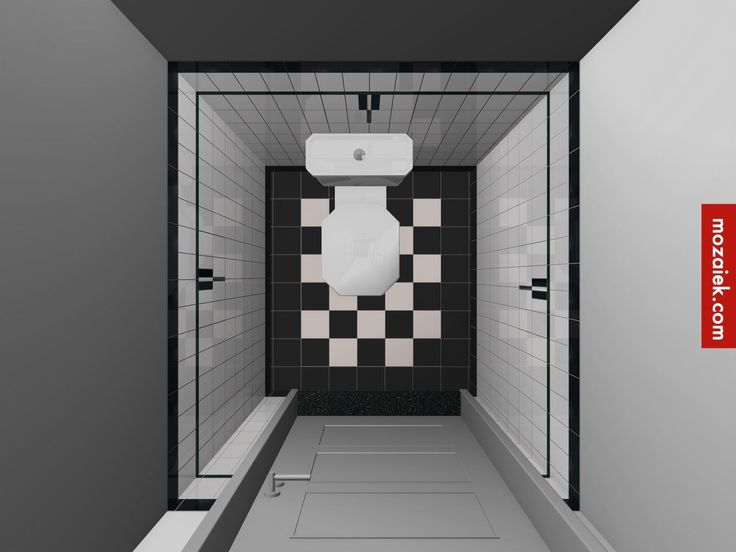 Zwart wit symmetrie en rust bathroom by monique mozaiek on - Deco toilet zwart ...
