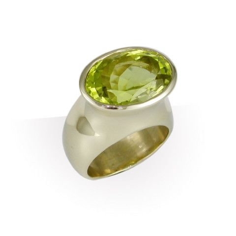 JENS HANSEN 18ct Gold & Olive Cubic Zirconia Ring. We can also custom make in a variety of colours and metals, so the final look is unique to your style.