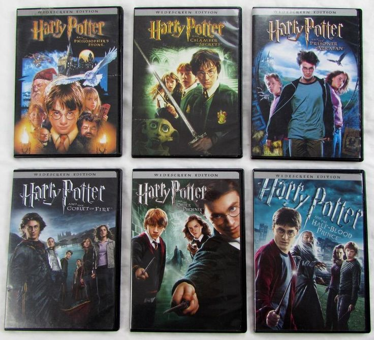 Lot of 6 DVD Harry Porter Movies Widescreen Dolby Digital 2001 to 2009