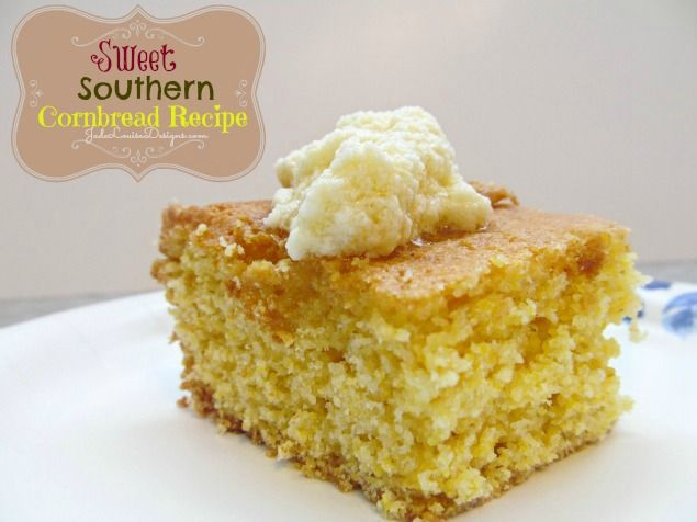 Sweet Southern Cornbread Recipe that melts in your mouth! Dairy Free and Kid friendly