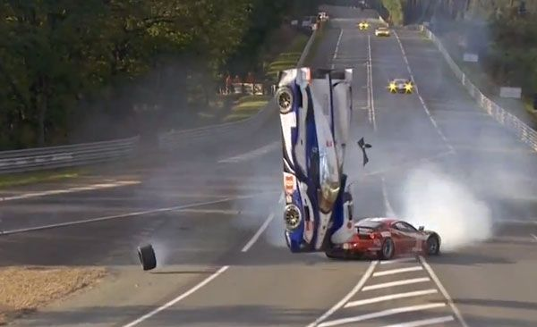 Toyota TS030 Hybrid Flips in Le Mans Crash – 2012 24 Hours of Le Mans