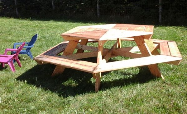 hexagonal picnic table made by Kelly photo 1