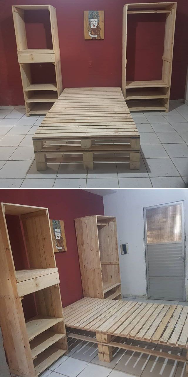 Pallet Wooden Drawers In Different Furniture Ideas | Pallet Beds |  Pinterest | Pallet, Pallet Furniture And Wooden Pallets