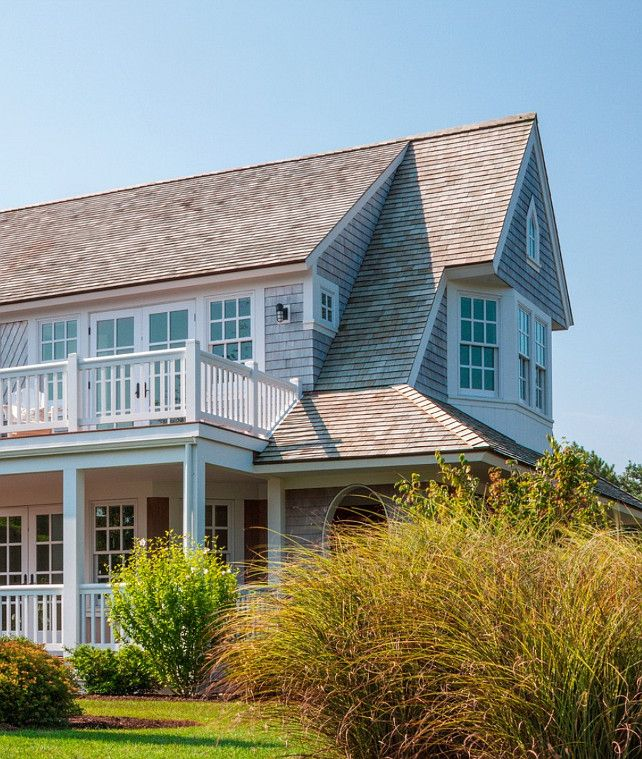Cape Cod Shingle Beach House with Coastal Interiors via HomeBunch
