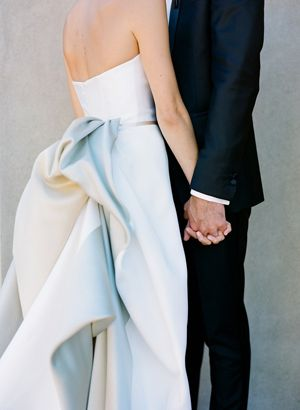In love with the back of this Carolina Herrera wedding gown | Photo by Josh Gruetzmacher.