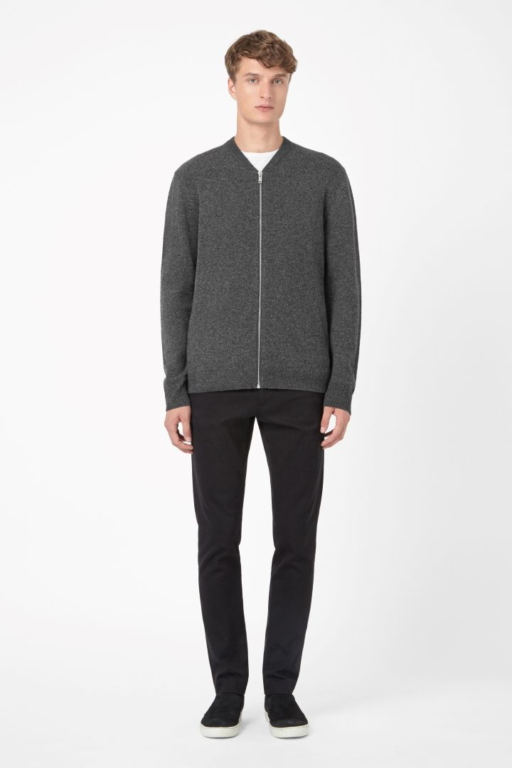 COS | Lambswool zip-up cardigan