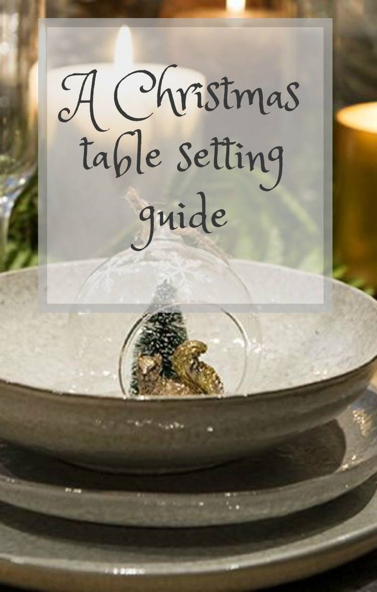 A Christmas table setting guide - its so lovely to decorate for Christmas isn't it and table decorations are often neglected but they do make such a difference to a stylish Christmas. Click through for some simple Christmas table decorating tips