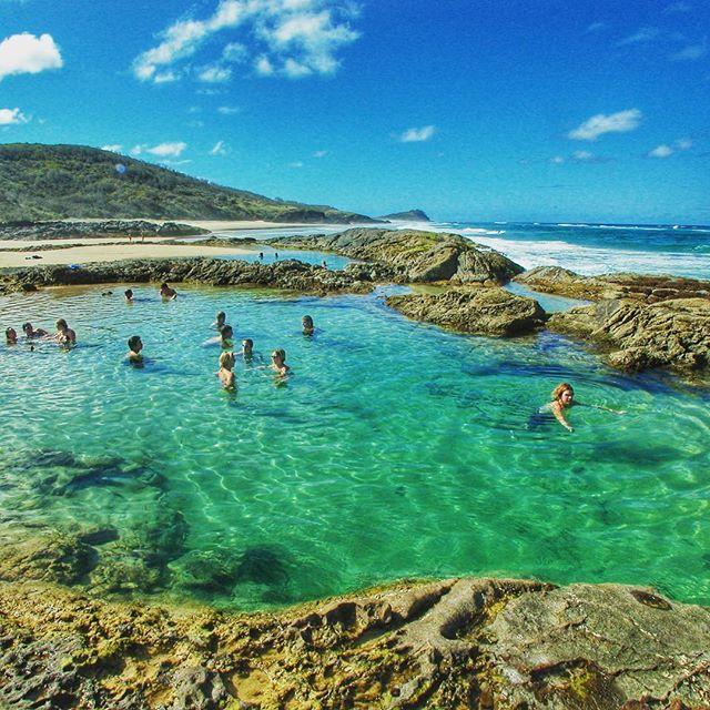 Champagne Pools - Fraser Island Australia