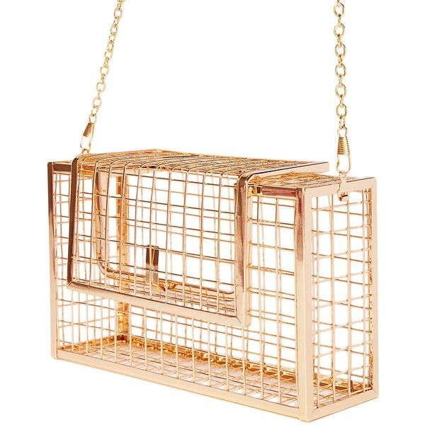 Metal Cage Clutch Purse Gold ($45) ❤ liked on Polyvore featuring bags, handbags, clutches, white clutches, metal clasp purse, clasp handbag, gold purse and gold clutches