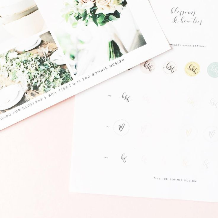 behind-the-scenes peek at the fun, vibrant and feminine branding for Blossoms & Bow Ties via b is for bonnie design
