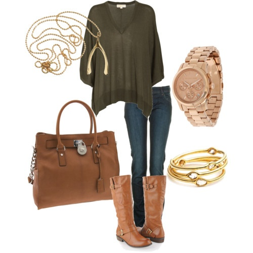 Green Sweater Fall Outfit