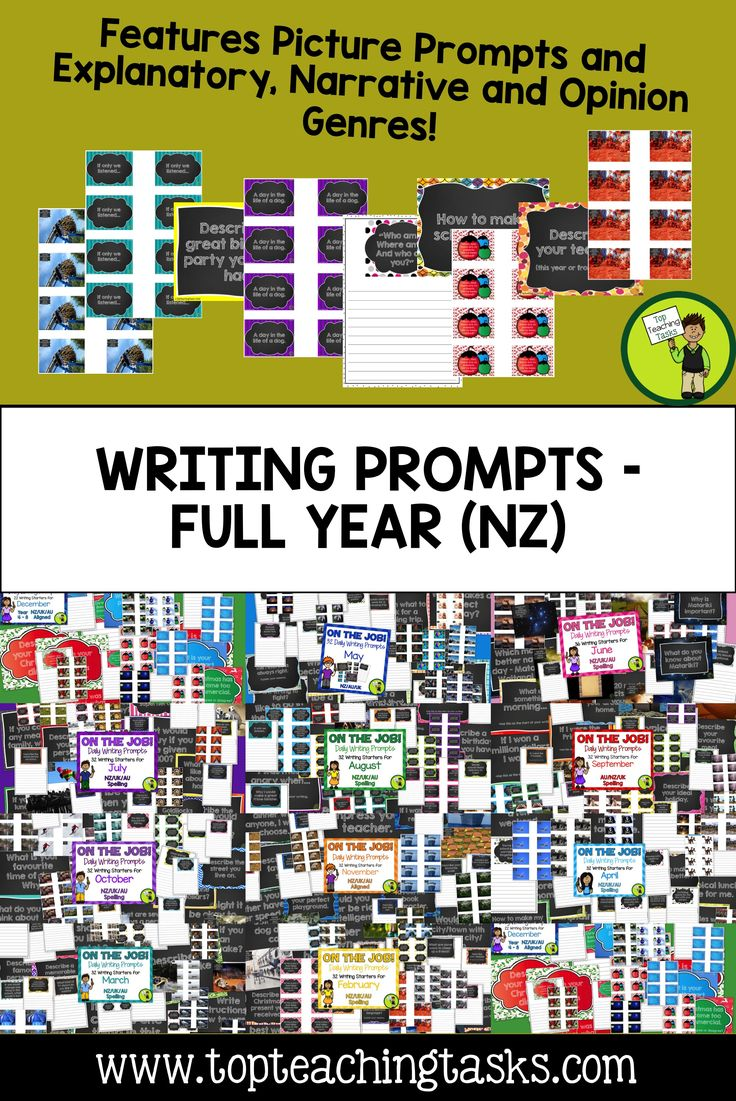 daily writing prompts elementary The giveaway julie is happy to participate in my back-to-school fiesta and has kindly offered a copy her daily spanish writing prompts for january through may mi.