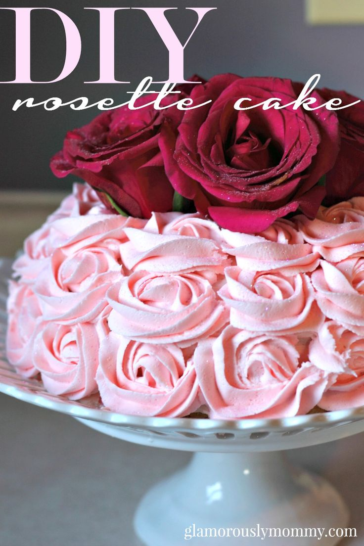 Rosette Cakes are all the rage. They look intimidating, but they are super easy to make with just a few instructions.