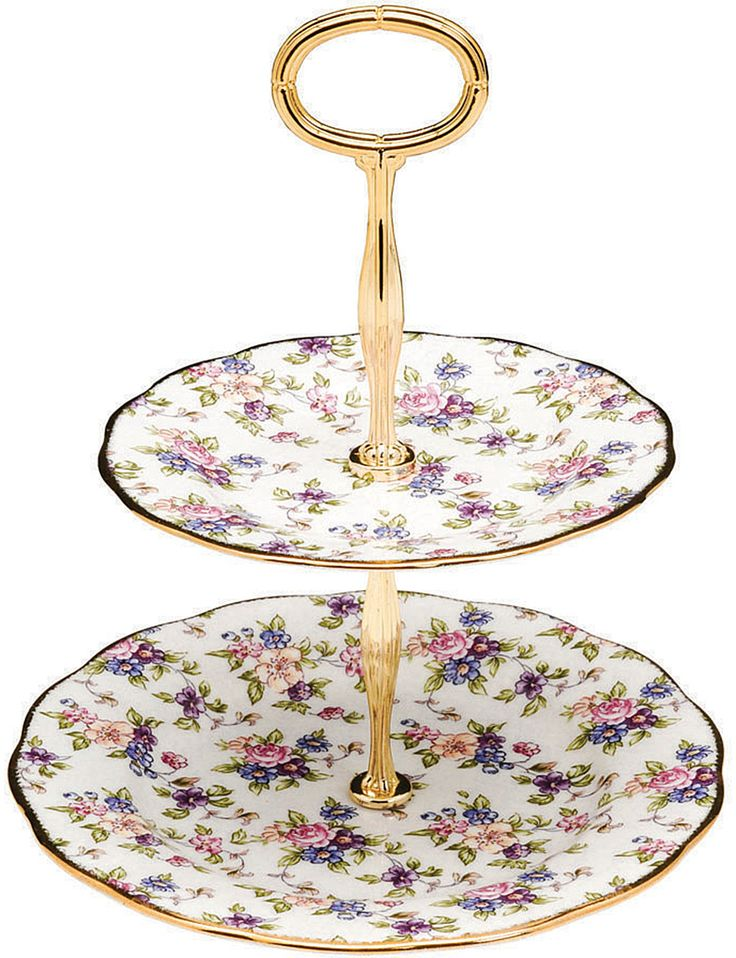 ROYAL ALBERT - 1940 English Chintz 2-tier cake stand | Selfridges.com