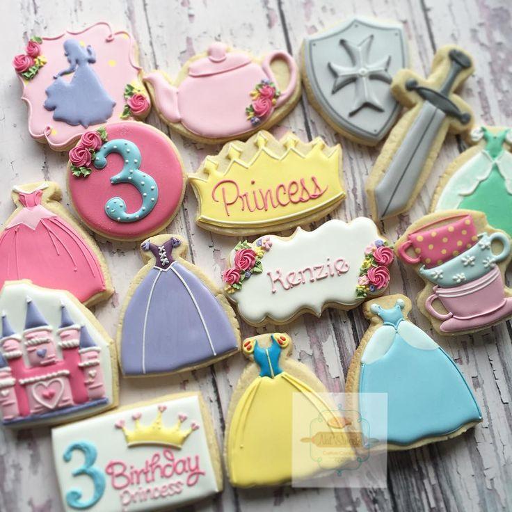 """Disney princess tea party #natsweets #customcookies #princesscookies #sandiego…"