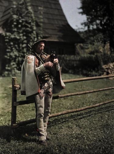 Man playing bagpipes (Poland)