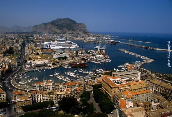 la Cala di Palermo vista dall'alto