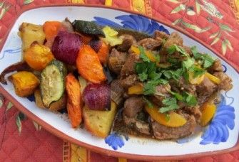 Moroccan Lamb Stew With Spiced Roasted Vegetables | Trim Down Club
