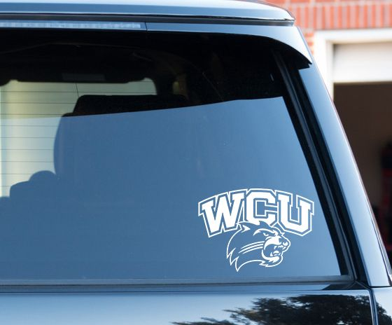 Western Carolina University - Window Decal. Made to order. Several vinyl colors to choose from.