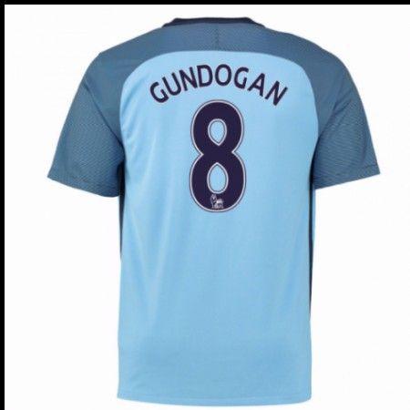 Manchester City 16-17 Ilkay #Gundogan 8 Hjemmebanetrøje Kort ærmer,208,58KR,shirtshopservice@gmail.com