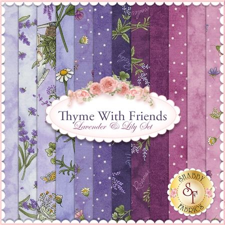 Thyme With Friends 12 Fq Set Lavender Amp Lily Set By Kris