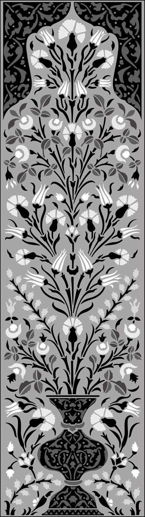 OTT49 - Panel No 3 stencil design.   stencil-library.com