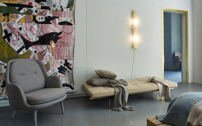 Milan / Le show-room Fritz Hansen aménagé comme un appartement /