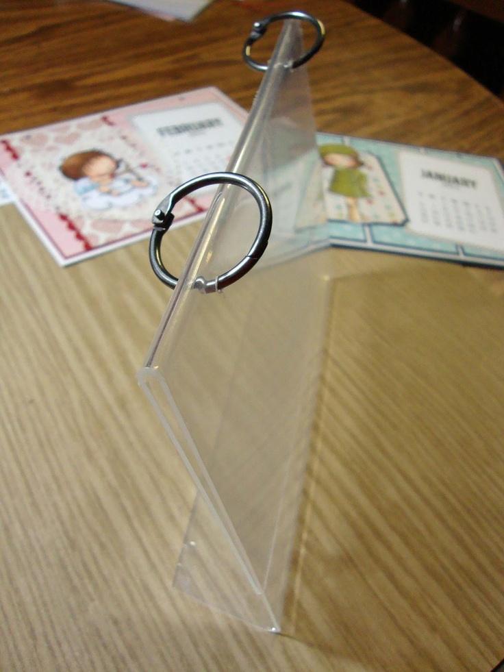 plastic picture frame calendar - bjl