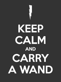Keep Calm and Carry a Wand Sticker https://www.carstickers.com/Keep_Calm_Car_Stickers_and_Decals.php