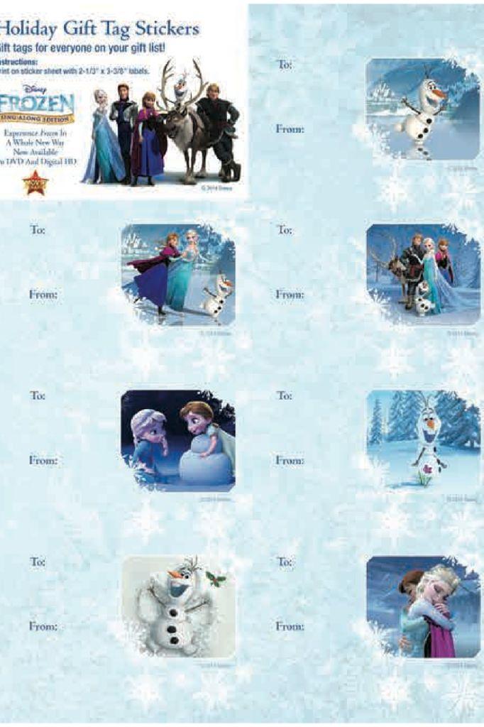 Frozen Christmas Gift Tags Printable