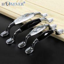 2 шт. мебельные ручки с кристаллами черный дверные ручки кухня кабинет ручка ручки и ручки ящика тянет(China (Mainland))