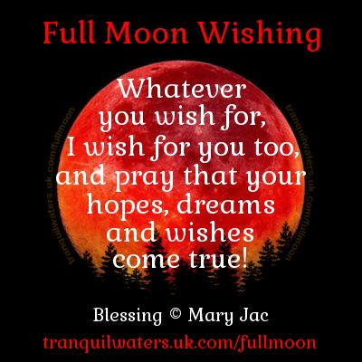 It's a magical FULL MOON tonight, perfect for wishing! Find the Full Moon Wishing prayer by CLICKING HERE ➡ http://www.tranquilwaters.uk.com/fullmoon ⭐ Send off your wishes by CLICKING HERE ➡ http://www.myangelcardreadings.com/makeawish Make a fairy wish and have it sprinkled with fairy dust, here ➡ http://www.myangelcardreadings.com/fairymagic OR wish at at the lucky wishing well, here ➡ http://www.myangelcardreadings.com/fairiesli