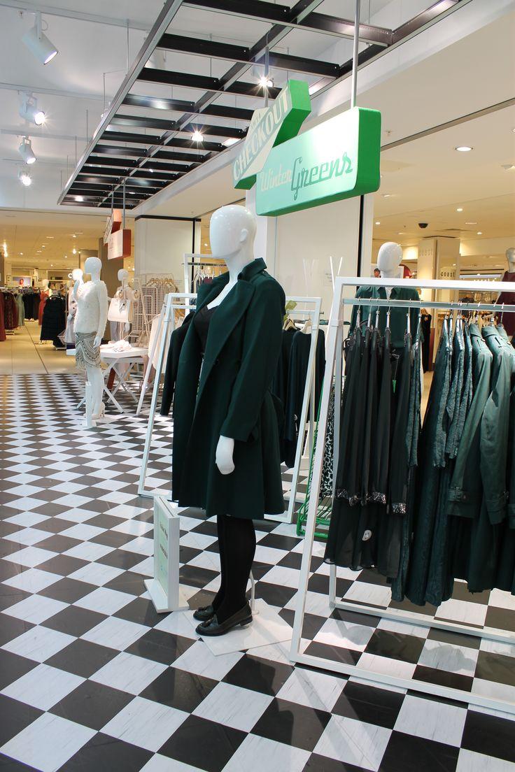 What a gorgeous winter green mac coat! #WinterGreen #VM #fashion #Coat #Green