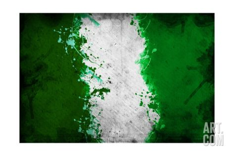 Nigerian Flag Art Print by igor stevanovic at Art.com