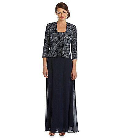 Alex evenings paisleyprint jacket dress dillards price for Dillards wedding dresses mother of the bride