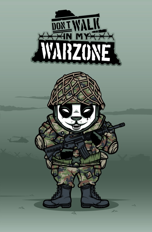 """""""DOKU"""" The Giant Panda  SOLDIER  Don't walk in my warzone"""