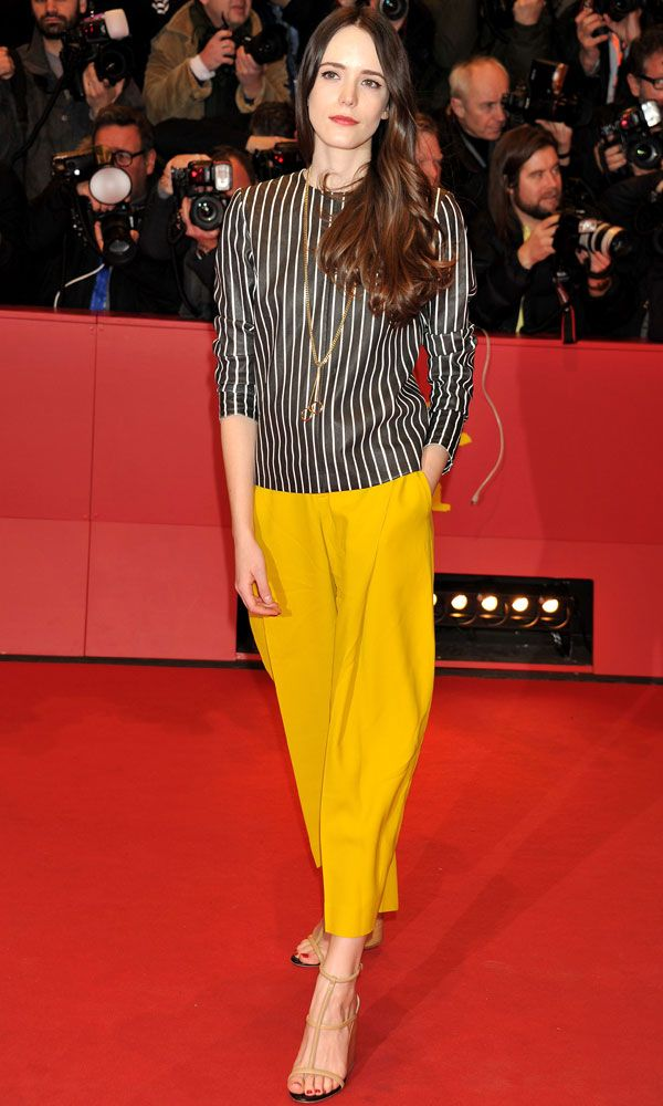 Look of the Day - Stacy Martin At The 'Nymphomaniac: Volume I' Premiere At Berlin Film Festival, 2014 from InStyle.com