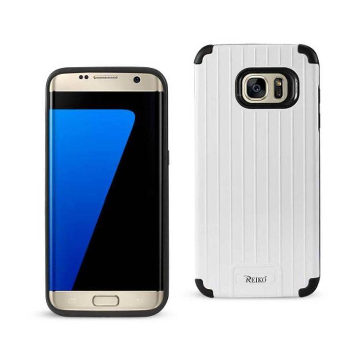 Reiko Samsung S7 Edge TPU+Protective Wallet Case Black White