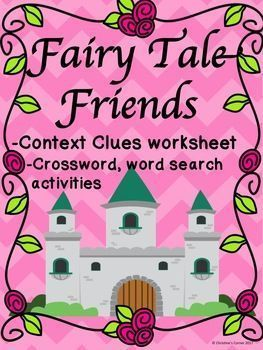 Do your students love fairy tales? Do your students need reinforcement activities for context clues? This product is a great addition to your Fairy Tale Unit. Students will be challenged to use context clues to guess the fairy tale character. Use these pages as morning work, seat work or as a fun activity at the end of your unit.I hope your students enjoy this Fairy Tale product as much as mine do!Contents include:                            Included in this packet:--Fairy Tale Friends…