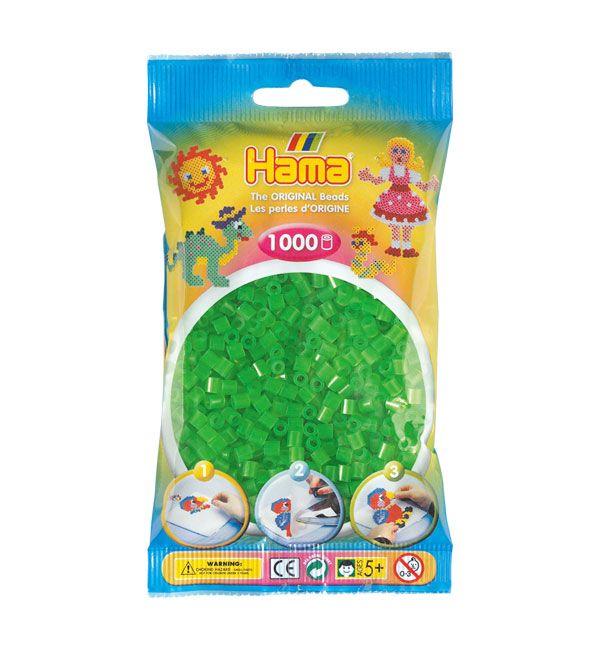 Hama Midi Verde Neón 1000 piezas