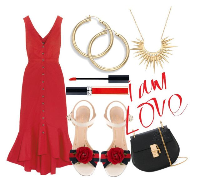"""""""Untitled #194"""" by zsofi-szibilla on Polyvore featuring Saloni, Gucci, Chloé, Celine Daoust and Christian Dior"""