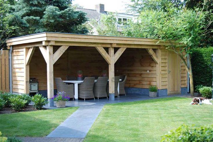 Voorbeelden van Tuinoverkapping van Lariks hout en Douglas hout. de planken kunnen ook (white-wash) van de overkapping Roterdam Utrecht Eindhoven Breda Tilburg Best Ulvenhout