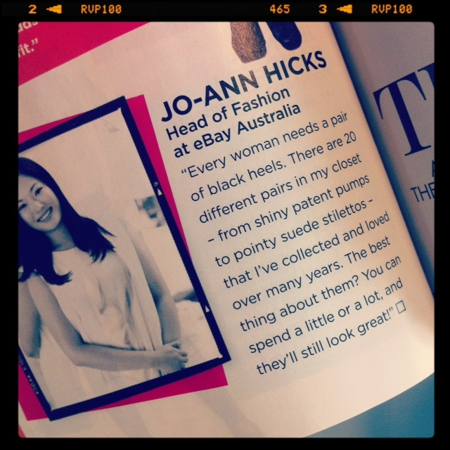 Our head of fashion Jo-Ann Hicks spilled the beans to Cleo magazine, she owns 20 pairs of black heels! How many do you own?