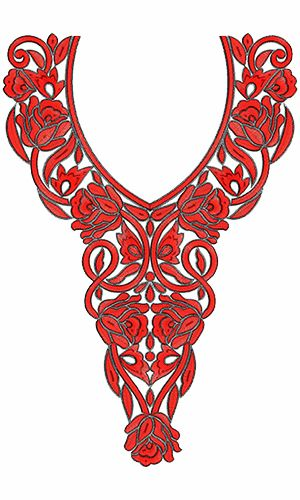 9337 Neck Embroidery Design