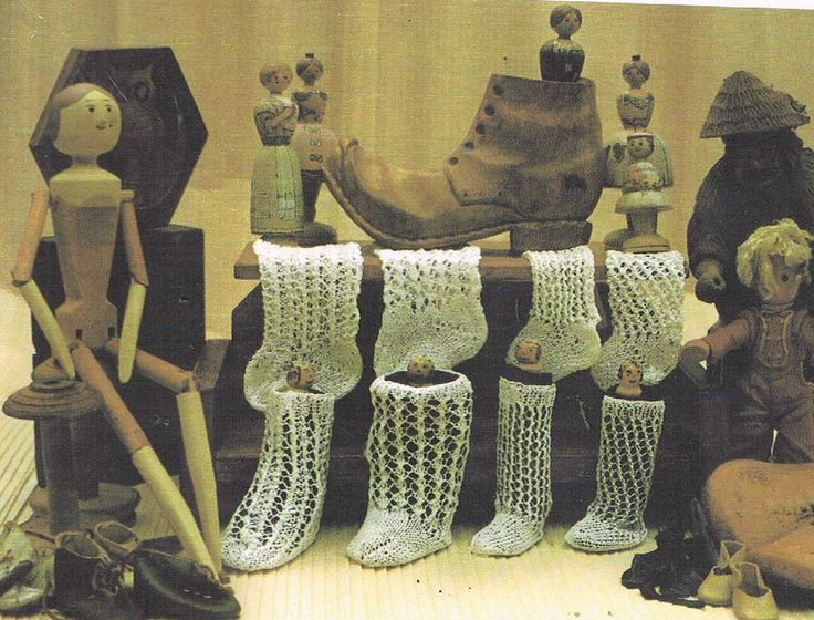 Scanned copy of these out of print patterns. 4 pairs Dainty dolls lacy socks to make. 'this is a knitting pattern to make these socks'. Dolls SOCKS. VARIETY OF SOCKS AS PER PICTURES. | eBay!