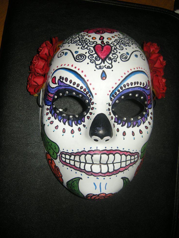 Sugar Skull Mask. $25.00, via Etsy. | Mexican Skulls ...