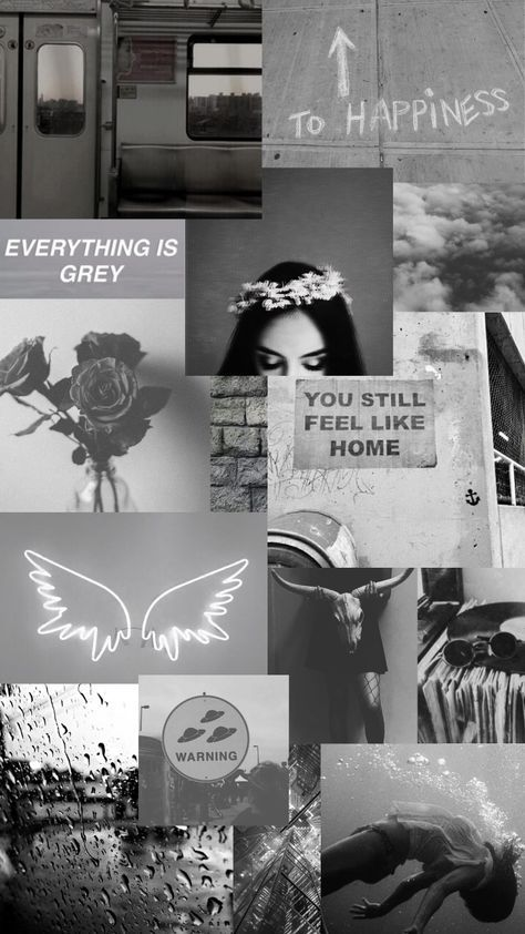 New aesthetic wallpaper collage grey ideas Aesthetic