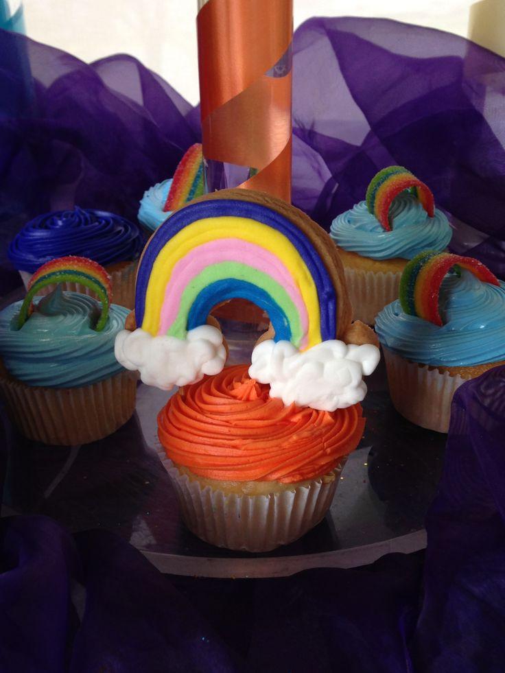 Rainbow cupcake | Rainbow brite | Pinterest | Cupcake, Rainbows and ...
