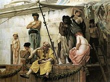 The slave market in ancient Rome. Gustave Boulanger.
